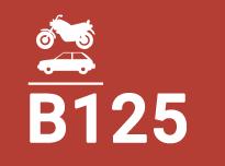 B125. Aceras, zonas peatonales y superficies similares, áreas de estacionamiento y aparcamientos de varios pisos para coches.